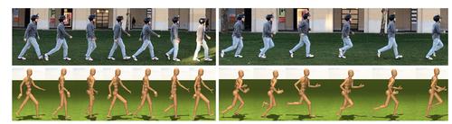 頭に取り付けた1台のカメラからの一人称視点映像で本人の3Dポーズを推定する模倣学習を用いた手法