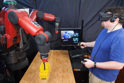 VRからロボットを遠隔操作するシステム