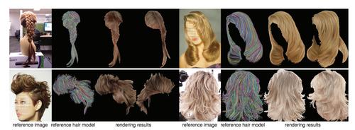 参考画像から髪の色具合を3Dモデルへ適用できるGANを用いた3Dヘアレンダリングを発表