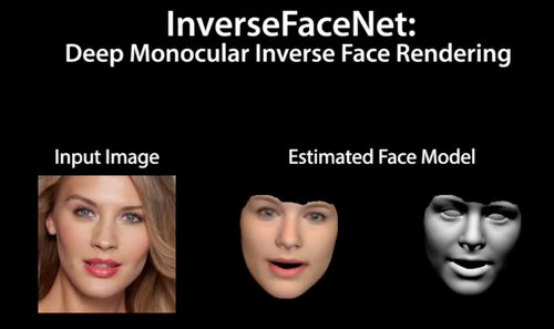 1枚の画像から顔の姿勢、形状、反射率、照明を推定し再構築するDeep learningを用いたインバースレンダリング法