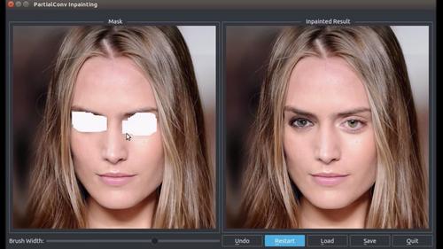 画像内の一部を削除しリアルに修復するDeep learningを用いた画像修復技術