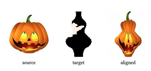 ソース形状を別のターゲット形状に合わせ調整することで新しい形状を生成するCNNを用いた手法