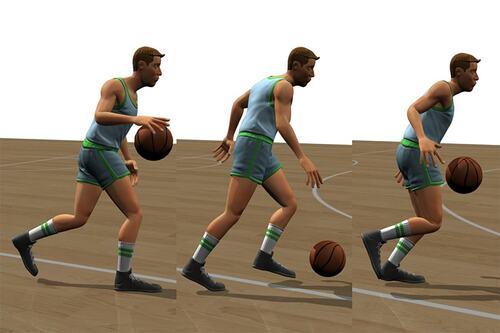 キャラクタのバスケットボール技能向上のためにドリブルを学ばせる深層強化学習を用いた手法