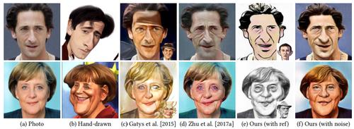 1枚の顔写真から似顔絵を生成するGANを用いた手法