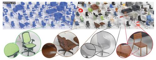 既存の3D形状を写実的なモデルへ自動的に変えるdeep learningを用いた手法