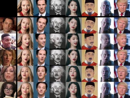 1枚の顔写真にリアルな動きを