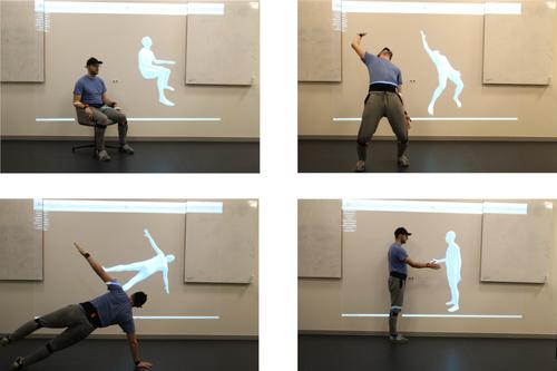 6つのIMUを装着し、リアルタイムに全身の3D姿勢推定を行うdeep learningを用いた手法