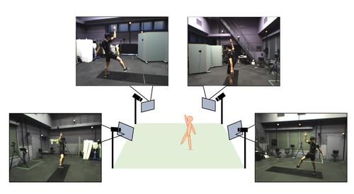複数台のRGBカメラだけから人のモーションキャプチャをリアルタイムに行う技術