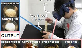奈良先端科学技術大学院大学など、そうめんをラーメンに錯覚させるARとGANを組み合わせたリアルタイム味覚操作システムを発表。白ご飯が焼飯にも