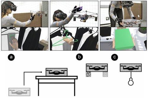 ショッピングの触覚体験をドローンを用いて再現するシステム