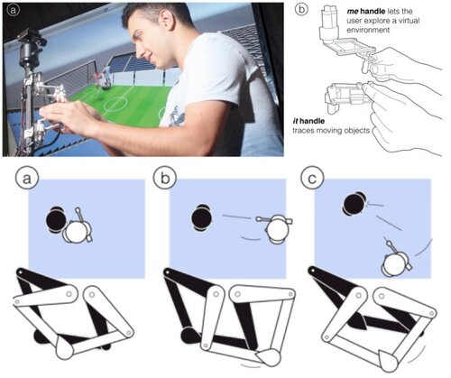 視覚障害者が仮想空間で移動しながら他の動くオブジェクトを追跡できる触覚デバイス