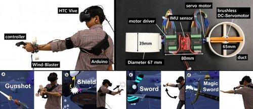 VRの触覚を再現するプロペラベースの手首装着型デバイス「Wind-Blaster」