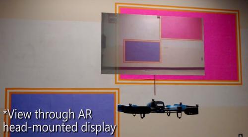 ドローンから見える視野をARで可視化する遠隔操作インターフェース