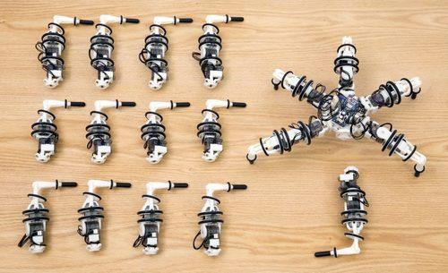 歩行中も着脱できる再構成可能な歩行ロボット