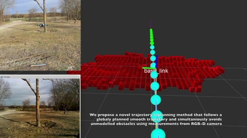 ドローンによる障害物をリアルタイムに3Dマップし回避する軌道再構成方法