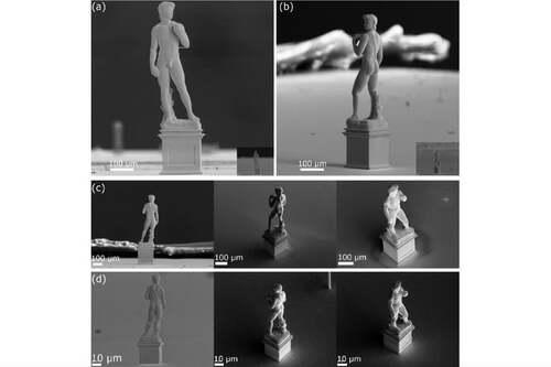 マイクロメートルのオブジェクトを3Dプリンティングするシステム