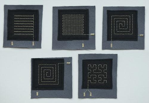ミシンで縫える、繊維でできた圧力センサー