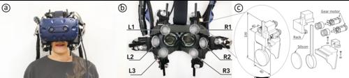 HMD着用者の顔面に映像に合う触覚を提供
