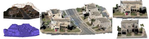 ドローンからの撮影で大規模都市を3D再構成する効率的な手法