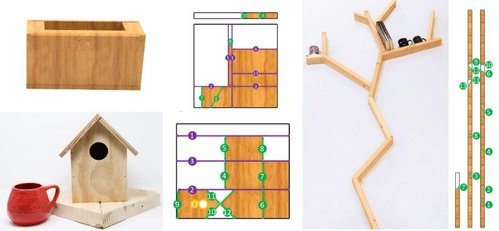 木工作品の設計図から製作プロセスを生成する日曜大工サポートシステム