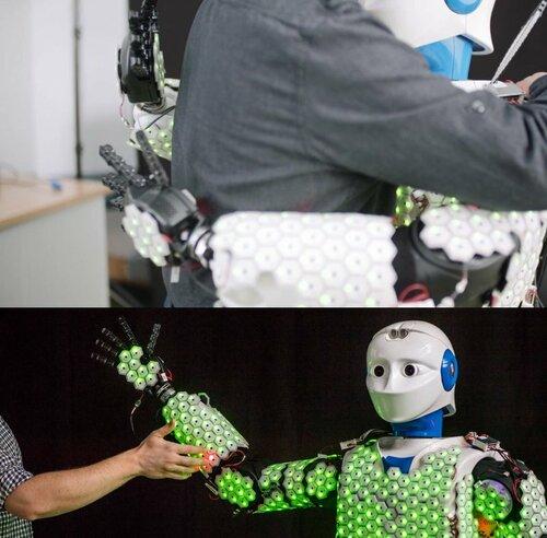 全身人工皮膚を備えた敏感なヒューマノイドロボット