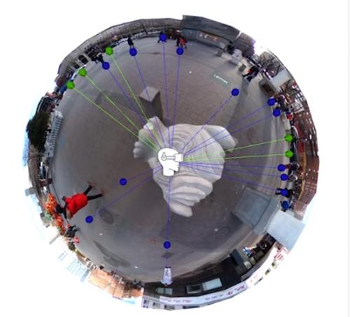 360°パノラマ画像の各オブジェクト位置(深度推定)に適した音源を割り当てる空間オーディオ・アルゴリズム