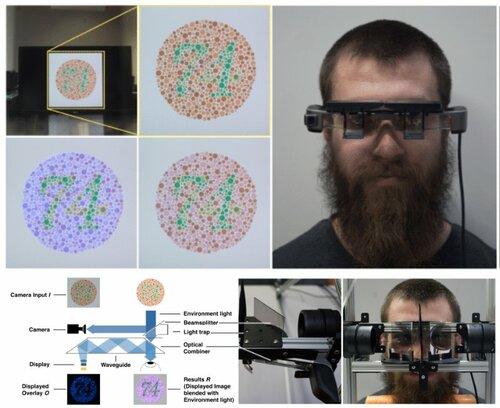 光学シースルーHMDを用いて色覚異常者を補助するメガネ型デバイス