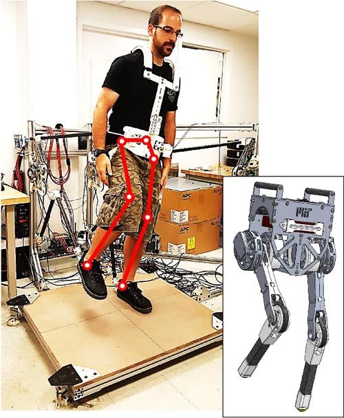人間のバランス制御もリモートできる2足ロボット