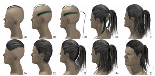 ヘアモデルを直感的に作成できるdeep Learningを用いたVRベースのヘアモデリングツール