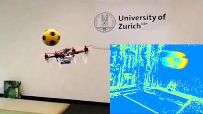 イベントカメラ搭載ドローンを用いて急に飛んでくる障害物を瞬時に避ける手法