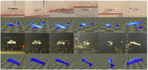 ハイブリットUAV(翼付きドローン)のコントローラを自動的に設計するためのニューラルネットワークを用いた手法
