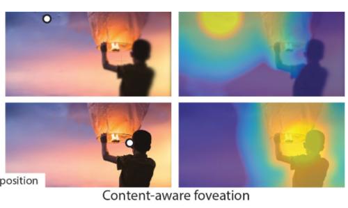 VRにおける視線先だけ高解像度にする中心窩レンダリングを画像内オブジェクトも考慮して最適化する手法