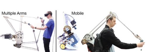 安価で手軽に構築できるアーム型触覚フィードバックシステム「Mantis」