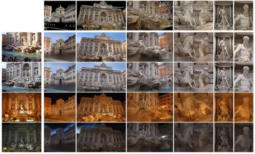 ネット上の画像群を使用して観光地の3Dシーンをより現実的に再構築する機械学習フレームワーク
