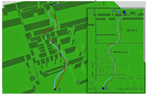 未知の環境をドローンが模索しならが目的地を目指す自律飛行するためのリアルタイム・フレームワークを