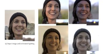 スマートフォンカメラで撮影した人物画像の照明環境を後から変更できるLight Stageと機械学習を用いたリライティング法