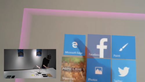 HoloLensを用いて机や壁などの表面をタッチスクリーンにするインターフェース