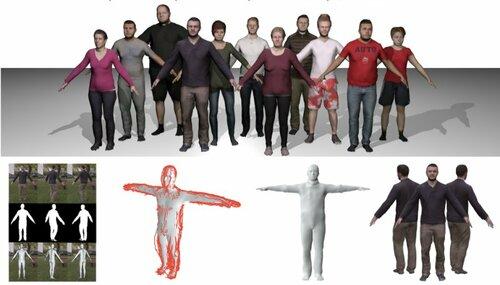 1台の単眼カメラから人体3Dアバタを4.5mm精度で生成する機械学習を用いた手法