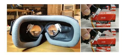 重ねた2枚のレンズをスライドさせて焦点距離を変える視線追跡と組み合わせた可変焦点HMD