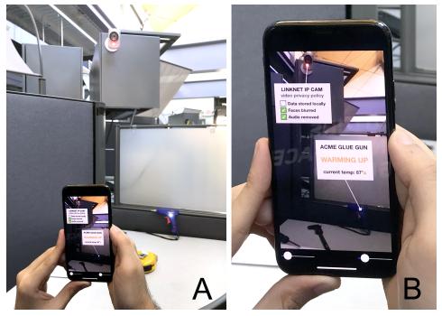 小さく目立たないポイントライトを用いて、現実にデジタル情報をオーバーレイするAR法