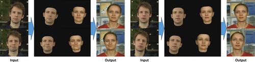 ビデオ内の顔の表情、頭の動き、目の動きや瞬きを外観を維持しながら制御する機械学習を用いた手法